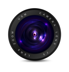 Lens on a white background vector image
