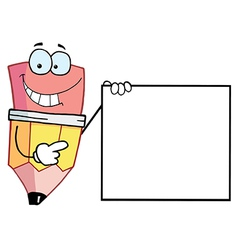 Pencil presenting a blank sign vector