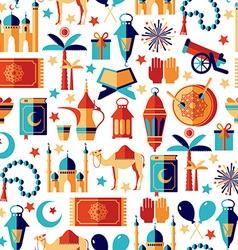 Ramadan Kareem icons set of ArabianSeamless vector image vector image