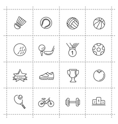 black sport set vector image