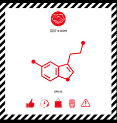 chemical formula icon serotonin vector image