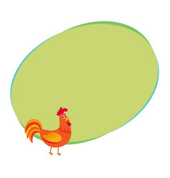 cute and funny colorful farm rooster chicken vector image vector image