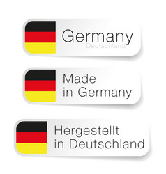 made in germany label with german translation vector image