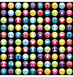 Mobile phone app icons background vector image vector image