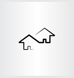 neighborhood house design element vector image vector image