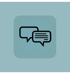 Pale blue chatting icon vector image