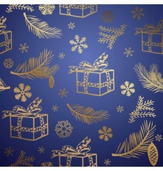seamless christmas background design element vector image