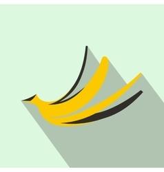 Banana peel icon flat style vector image