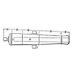 Breech Cannon vintage engraving vector image vector image