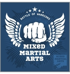 Fight club MMA Mixed martial arts vector image vector image