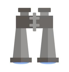 Flat binoculars icon vector image