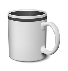 Gray and black mug realistic 3d mockup on a white vector