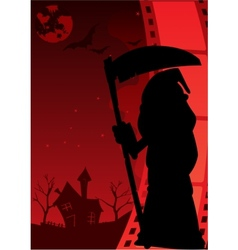 Horror poster vector image vector image