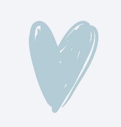 a heart on white background vector image