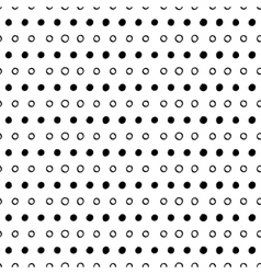 Abstract seamless dotted pattern vector image