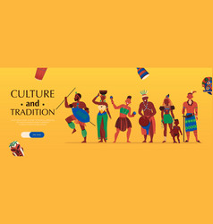 African culture tradition banner vector