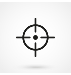 aim icon black on white background vector image