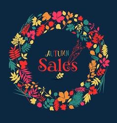 Autumn nature sale background vector image