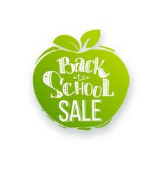 Back to school sale on apple shape vector