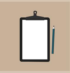 Black clipboard and pencil vector