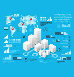 blue infographics vector image