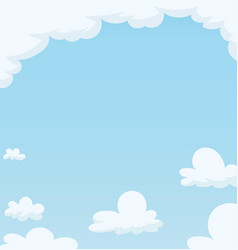 Blue sky with cloud vector