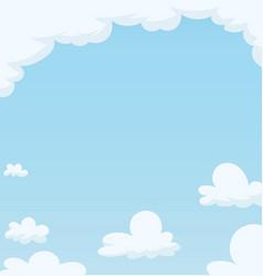 Blue sky with cloud vector