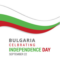 Bulgaria celebrating independence day september vector