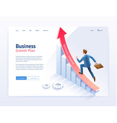 Business growth plan website ui ux design vector