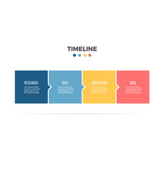business infographics timeline with 4 steps vector image