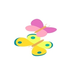 Butterfly isometric 3d icon vector image