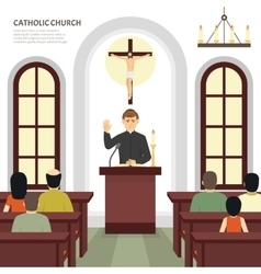 Catholic Church Priest vector