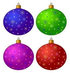 Christmas-tree decorations set vector image