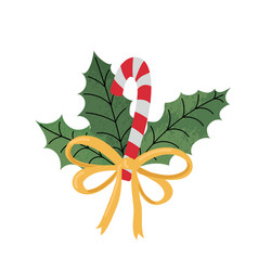 Colorful christmas cane with vector