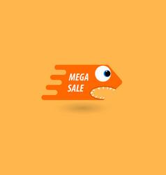 Comic price tag mega sale vector