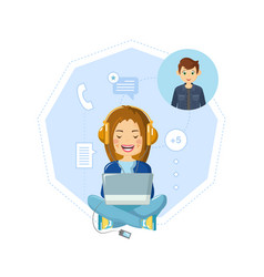 Communication dialogues in chat online vector