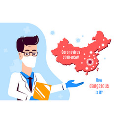 Coronavirus 2019-ncov information banner flat vector