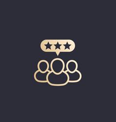 Customer reviews rating icon vector