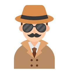 Detective icon profession and job vector