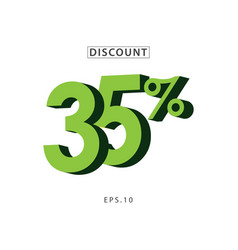 discount 35 template design vector image