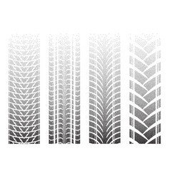 Dotted tire tracks 8 vector