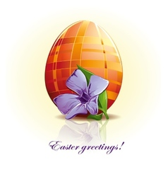 Easter egg with flower vector image