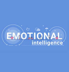 Emotional intelligence feeling and mental health vector