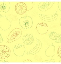 Exotic fruit seamless pattern vector image