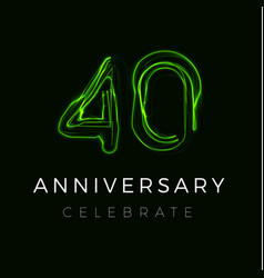 Forty anniversary poster for party 40th years vector