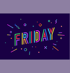 friday banner speech bubble vector image