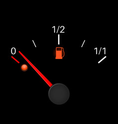 Fuel gauge black empty tank vector
