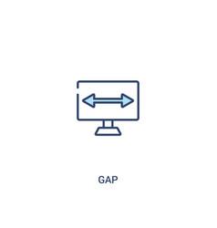 Gap concept 2 colored icon simple line element vector