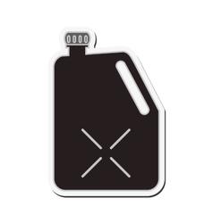 Gasoline dispenser car design vector