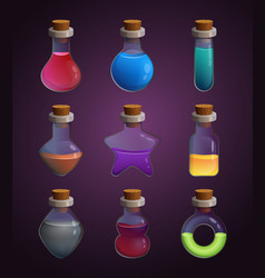 glass bottles at different shapes with various vector image